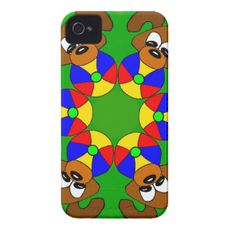 Puppies with colourful balls Case-Mate iPhone 4 case