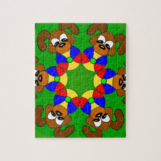 Puppies with colourful balls jigsaw puzzle