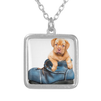 puppy-1154468_640 silver plated necklace