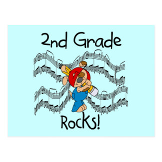 Puppy 2nd Grade Rocks Tshirts and Gifts Postcard