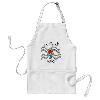 Puppy 3rd Grade Rocks Tshirts and Gifts Aprons