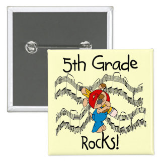 Puppy 5th Grade Rocks Tshirts and Gifts Pin