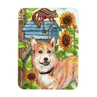 Puppy and Chipmunk by Mailbox Magnet