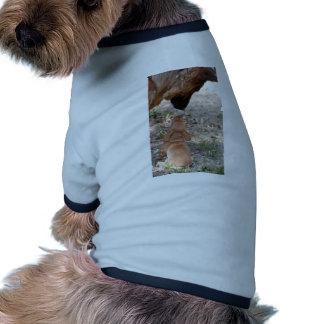 puppy and german sheperd pet tee