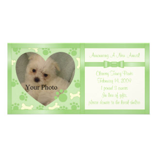 Puppy Announcement Customised Photo Card