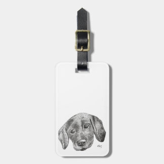 Puppy Art Luggage Tags