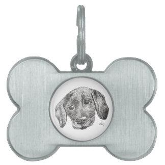 Puppy Art Pet Tag