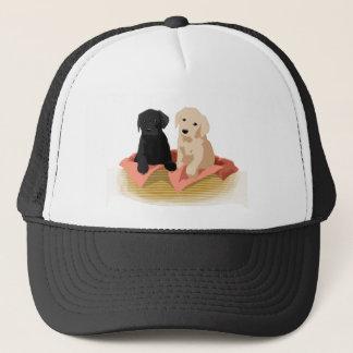 Puppy Basket Trucker Hat