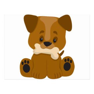 Puppy Big Paws Sitting Postcards
