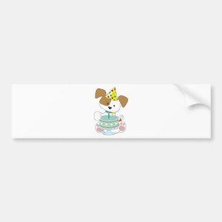 Puppy Birthday Cake Bumper Stickers