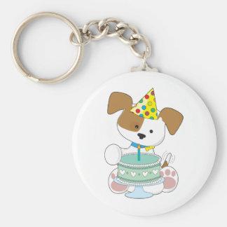 Puppy Birthday Cake Key Chain