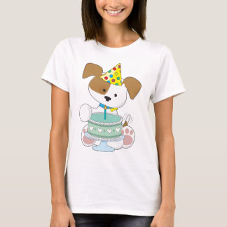 Puppy Birthday Cake T-Shirt