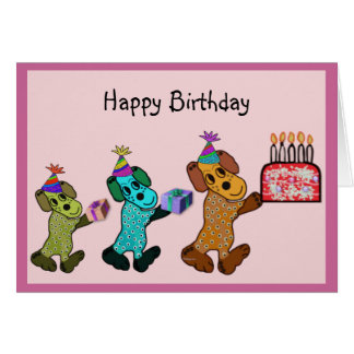 Puppy Birthday Fun Card