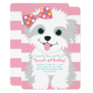 Puppy Birthday Paw-ty Invitation