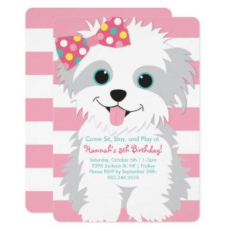 Puppy Birthday Paw-ty Invitation