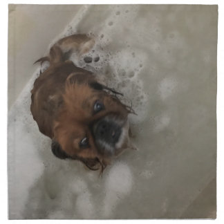 PUPPY BUBBLES NAPKIN