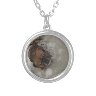 PUPPY BUBBLES SILVER PLATED NECKLACE