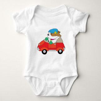Puppy Car Baby Bodysuit
