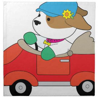 Puppy Car Napkin
