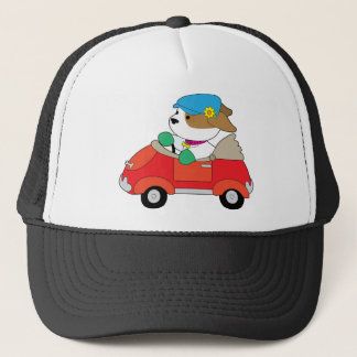 Puppy Car Trucker Hat