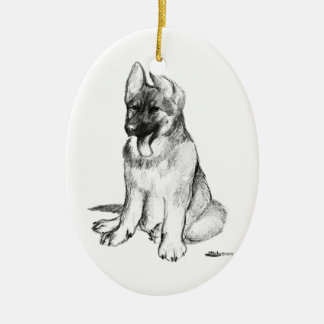 Puppy Ceramic Ornament