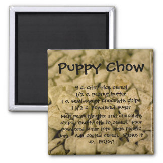 Puppy Chow Square Magnet