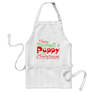 Puppy Christmas Holiday Apron