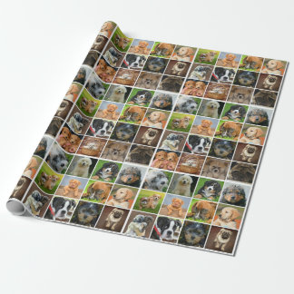"""Puppy Collage Matte Wrapping Paper, 30"""" x 6' Wrapping Paper"""