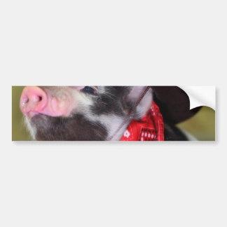 puppy Cowboy Baby Piglet Farm Animals Babies Bumper Sticker