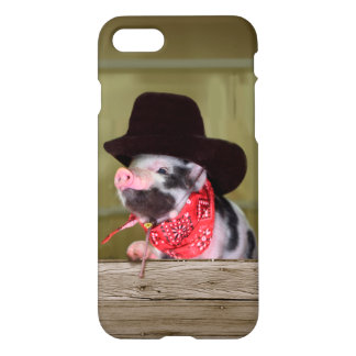 Puppy Cowboy Baby Piglet Farm Animals Babies iPhone 7 Case