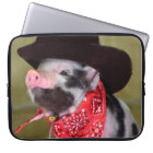 Puppy Cowboy Baby Piglet Farm Animals Babies Laptop Sleeve