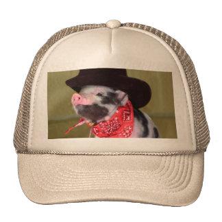 Puppy Cowboy Piglet Farm Animals Cap