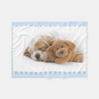 Puppy Dog and Teddy Bear Fleece Blanket