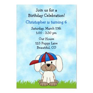Puppy Dog Birthday Invitation for Boys
