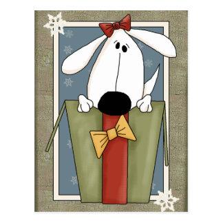 Puppy Dog Christmas Postcard