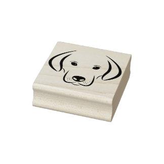 puppy dog face art stamp