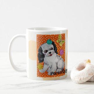 Puppy Dog Ladybug Personalized Mug Original Art