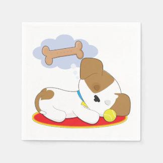 Puppy Dreaming Paper Napkins Disposable Serviette