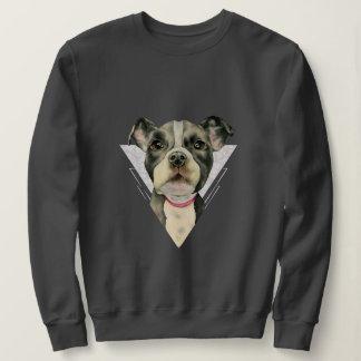 """Puppy Eyes"" Pit Bull Dog Watercolor Painting 2 Sweatshirt"