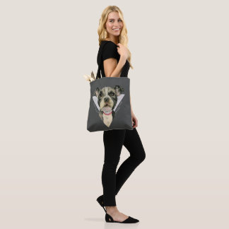 """Puppy Eyes"" Pit Bull Dog Watercolor Painting 2 Tote Bag"