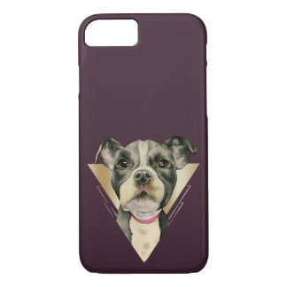 """Puppy Eyes"" Pit Bull Dog Watercolor Painting 4 iPhone 8/7 Case"
