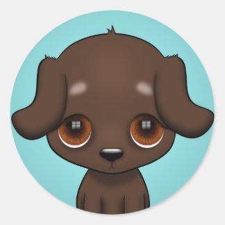 Puppy Eyes Round Sticker