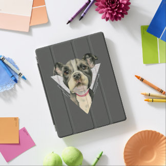 Puppy Eyes Watercolor Painting 2 iPad Cover