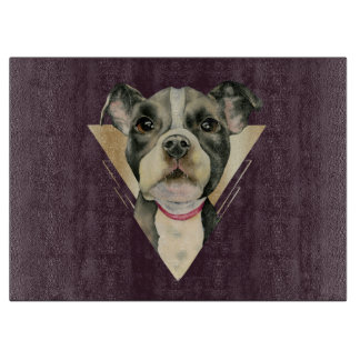 Puppy Eyes Watercolor Painting 4 Cutting Board