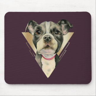Puppy Eyes Watercolor Painting 4 Mouse Pad