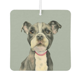 Puppy Eyes Watercolor Painting Car Air Freshener