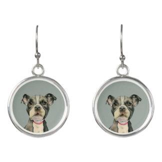 Puppy Eyes Watercolor Painting Earrings