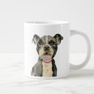 Puppy Eyes Watercolor Painting Large Coffee Mug