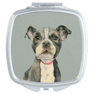 Puppy Eyes Watercolor Painting Mirror For Makeup