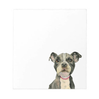 Puppy Eyes Watercolor Painting Notepad